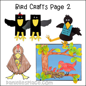 Bird Crafts and Learning Activities from www.daniellesplace.com