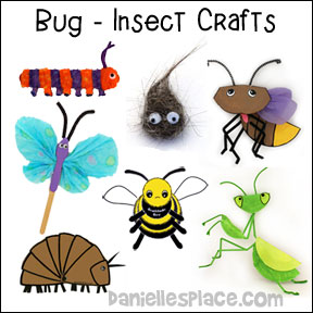 Bug Crafts and Learning Activities from www.daniellesplace.com