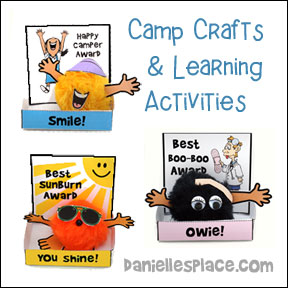 Camp Crafts and Learning Activities from www.daniellesplace.com