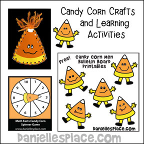 Candy Corn Crafts and Leaning Activities for Kids from www.daniellesplace.com
