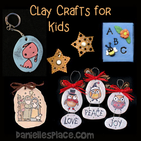 Clay Craft for Children from www.daniellesplace.com