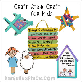 Craft Stick Crafts for Kids from www.daniellesplace.com