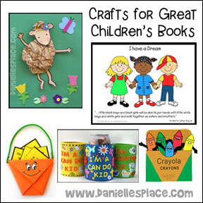 Crafts for Great Children's Books from www.daniellesplace.com