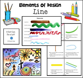Elements of Design - Line Art Lesson from www.daniellesplace.com