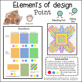 Elements of Design - Point Art Lesson from www.daniellesplace.com