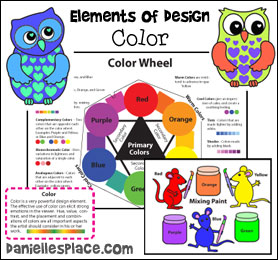 Elements of Design - Color - Crafts, Activities, and Lesson for Children from www.daniellesplace.com