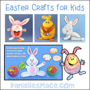 Easter Craft and Learning Activities for Kids from  www.daniellesplace.com where learning is fun!