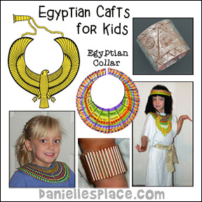 Egyptian Crafts and Learning Activities from www.daniellesplace.com