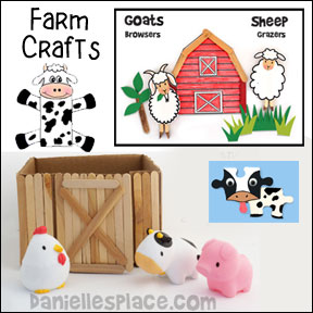 Farm Animal and Farm Crafts for Kids