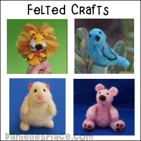 Needle Felted Pink Bear Craft from www.daniellesplace.com