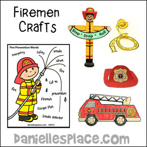 Firemen Crafts and Learning Activities from www.daniellesplace.com