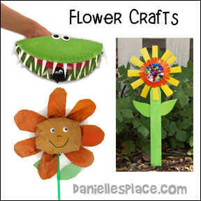 Flower Crafts and Learning Activities from www.daniellesplace.com where learning is fun