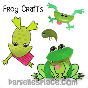Frog Crafts and Learning Activities from www.daniellesplace.com where learning is fun!