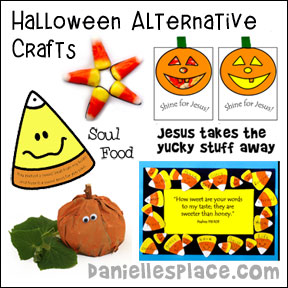 Halloween Alternative Crafts for Kids from www.daniellesplace.com where learning is fun!