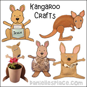 Kangaroo Crafts and Learning Activities from www.daniellesplace.com