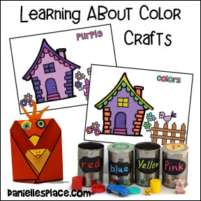 "Purple House Activity Sheet for ""Purple Little Bird"" Children's Book from www.daniellesplace.com"