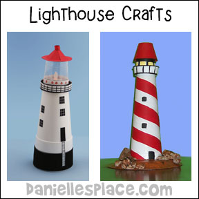 homeschool and sunday school Lighthouse DIY Craft for Kids