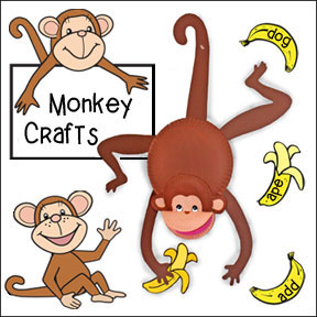 Monkey sign printable clipart