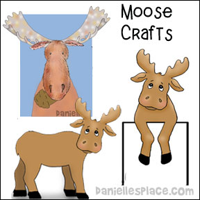 Moose Paper Bag Puppet Craft from www.daniellesplace.com