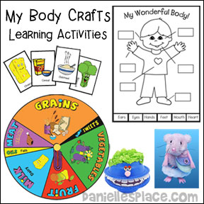 My Body Crafts and Educational Learning Activities for Children