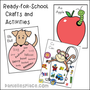 Ready for School Crafts and Learning Activities for Children