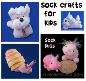 Sock Crafts for Kids from www.daniellesplace.com