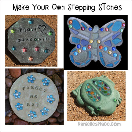 Make your own stepping stones.