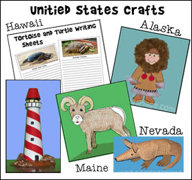 United States Crafts and Learning Activities from www.daniellesplace.com