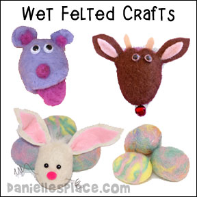 Felting Crafts for Kids from www.daniellesplace.com