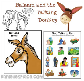 Bible Lessons for Children - Balaam and the Talking Donkey Sunday School Lesson from www.daniellesplace.com