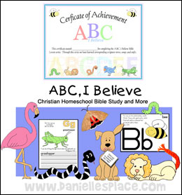 ABC, I Believe Bible Lessons from www.daniellesplace.com