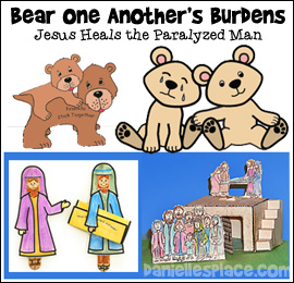Bear One Another's Burden Bible Lesson for Children from www.daniellesplace.com