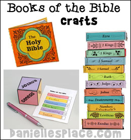 Books of the Bible Crafts for Sunday School from www.daniellesplace.com
