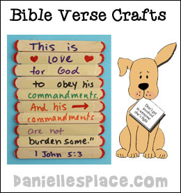 Bible Verse Memorization and Bible Reading Crafts and Activities on www.daniellesplace.com