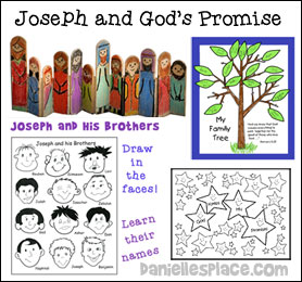 Joseph and God's Promise Sunday School Lesson for Children from www.daniellesplace.com