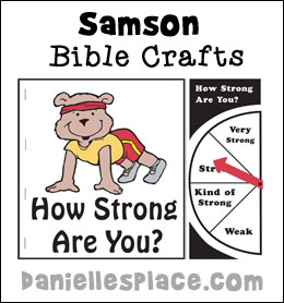 Samson Bible Crafts for Sunday School from www.daniellesplace.com
