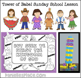 Tower of Babel Sunday School Lesson for Children from www.daniellesplace.com