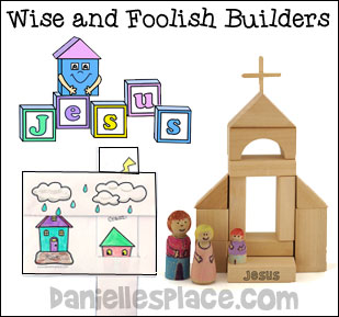 Wise and Foolish Builders - The Lord is My Rock Bible Lesson for Older children
