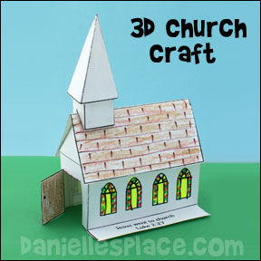 Church themed crafts and activities for sunday school 3d church bible crafts for sunday school from daniellesplace maxwellsz