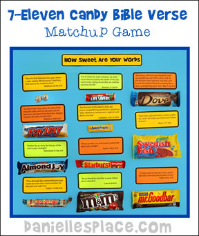 7-Eleven Candy Bible Verse Matchup Game from www.daniellesplace.com ©2014