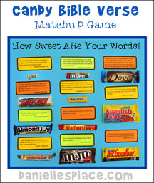 Bible Verse and Candy Matchup Game