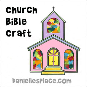 Church Bible Craft for Sunday School from www.daniellesplace.com