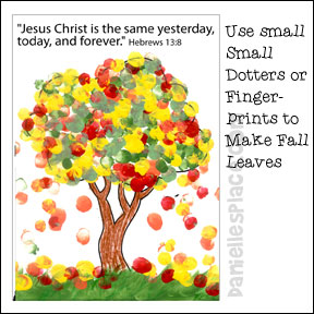 Jesus never changes and fall theme for Children s christian crafts