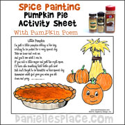 Spice Painting Thanksgiving Poem Craft