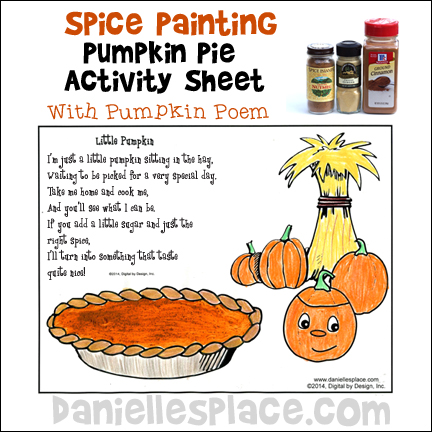 Pumpkin Spice Painting Activity Sheet with Thanksgiving Poem from www.daniellesplace.com