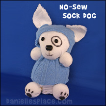 earth day recycled Dog Sock Doll Craft