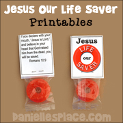 Jesus Our Life Saver Candy Treat Craft