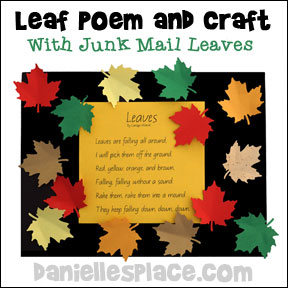 Fall Leaves Poem and Craft from www.daniellesplace.com