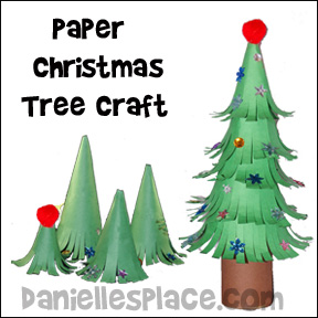Christmas Tree Craft.Christmas Crafts And Winter Crafts For Kids