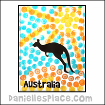 Australian Dot Art Printables - Do-a-Dot Page fpr Australian Homeschool Unit Study